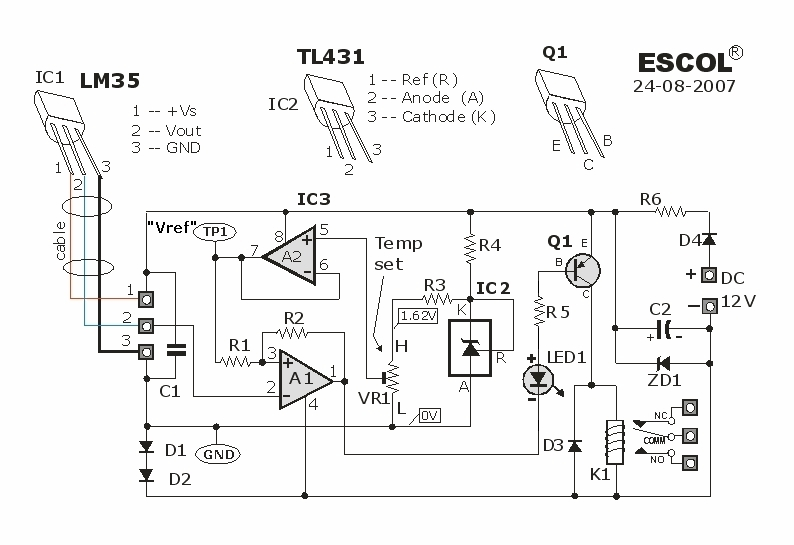 please explain me the lm35 circuit design