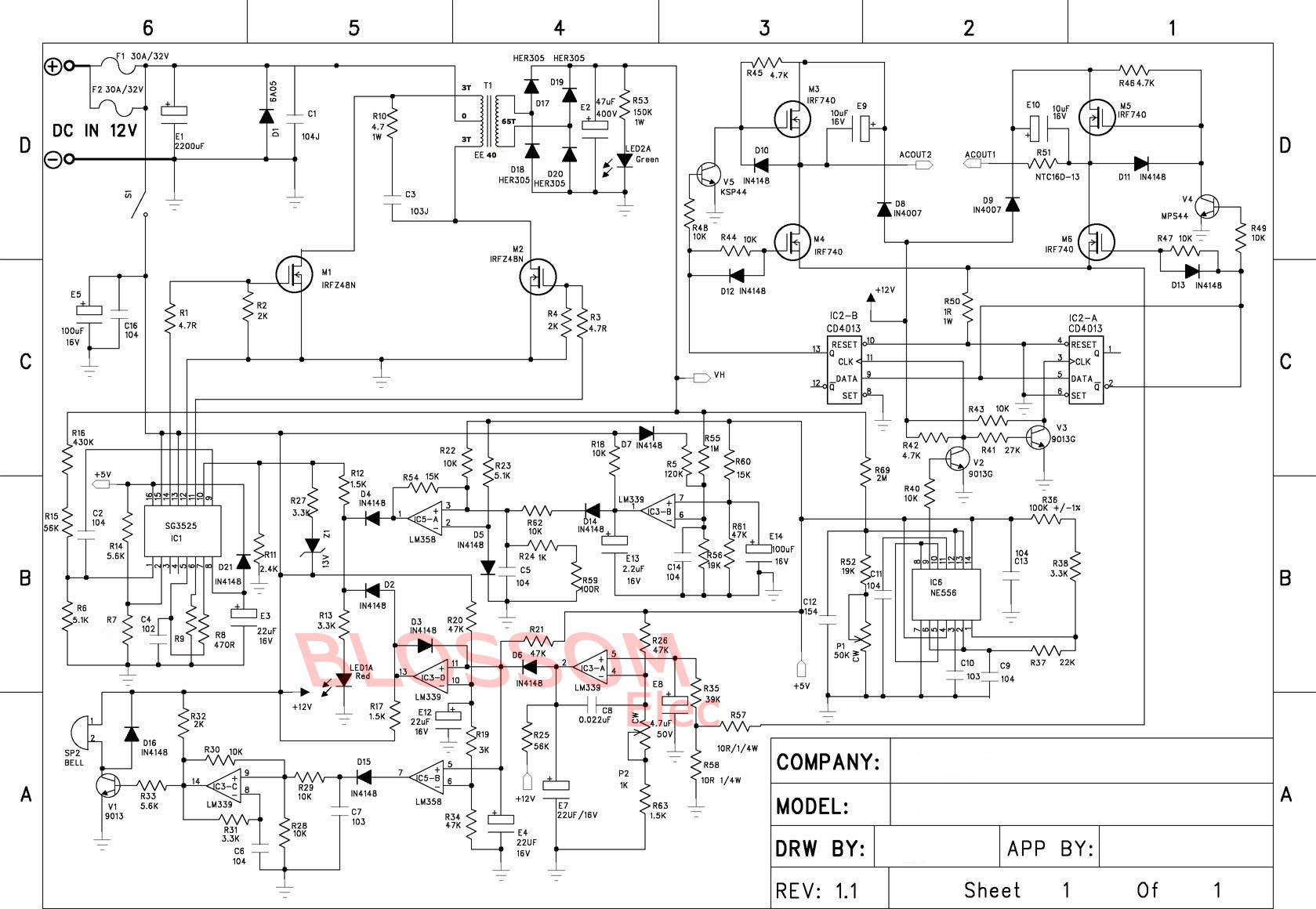 SOLVED] DC to AC inverter H-Bridge