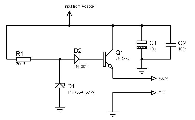 advice for 120vac to 3 7v dc circuit