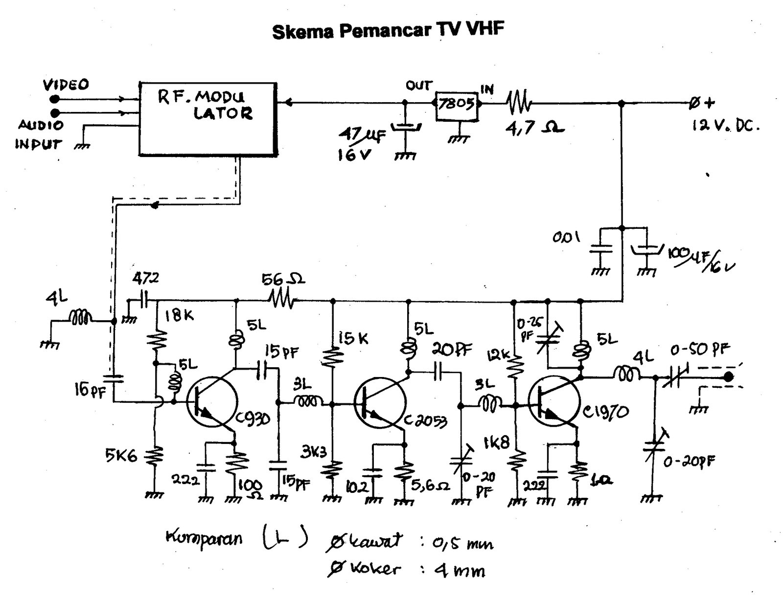 FM RF amplifier for VHF TV? Uhf Transmitter Schematic on wifi transmitter schematic, vlf transmitter schematic, rf transmitter schematic, cellular transmitter schematic, am transmitter schematic, bluetooth transmitter schematic, television transmitter schematic, hf transmitter schematic, shortwave transmitter schematic, 900 mhz transmitter schematic, elf transmitter schematic, tv transmitter schematic, cw transmitter schematic, radio transmitter schematic, fm transmitter schematic,