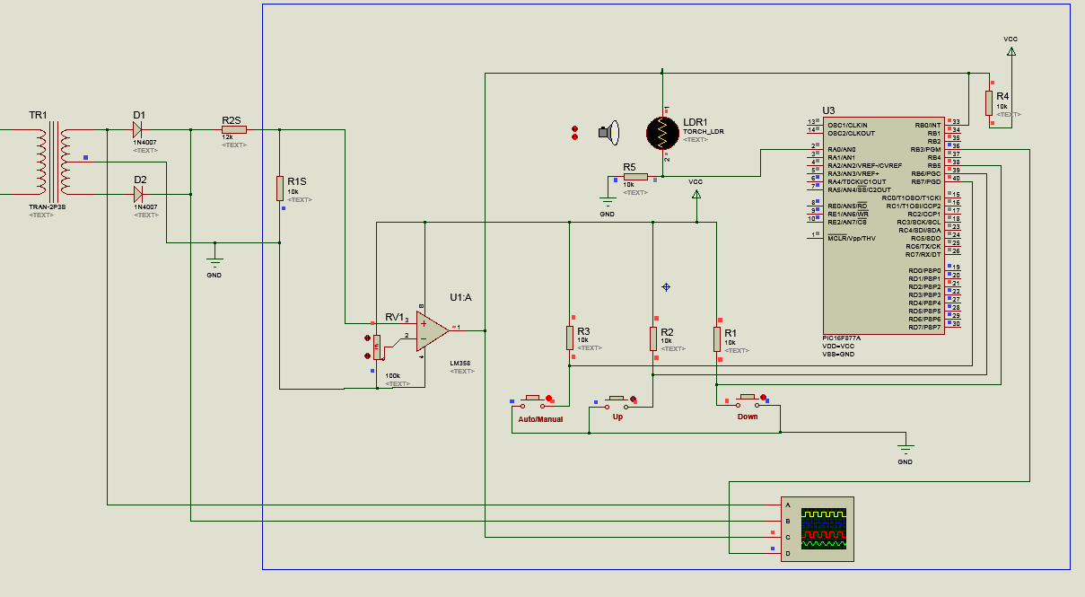 Ac Lamp Dimmer Using Triac And Pic16f877a Circuit Diagram