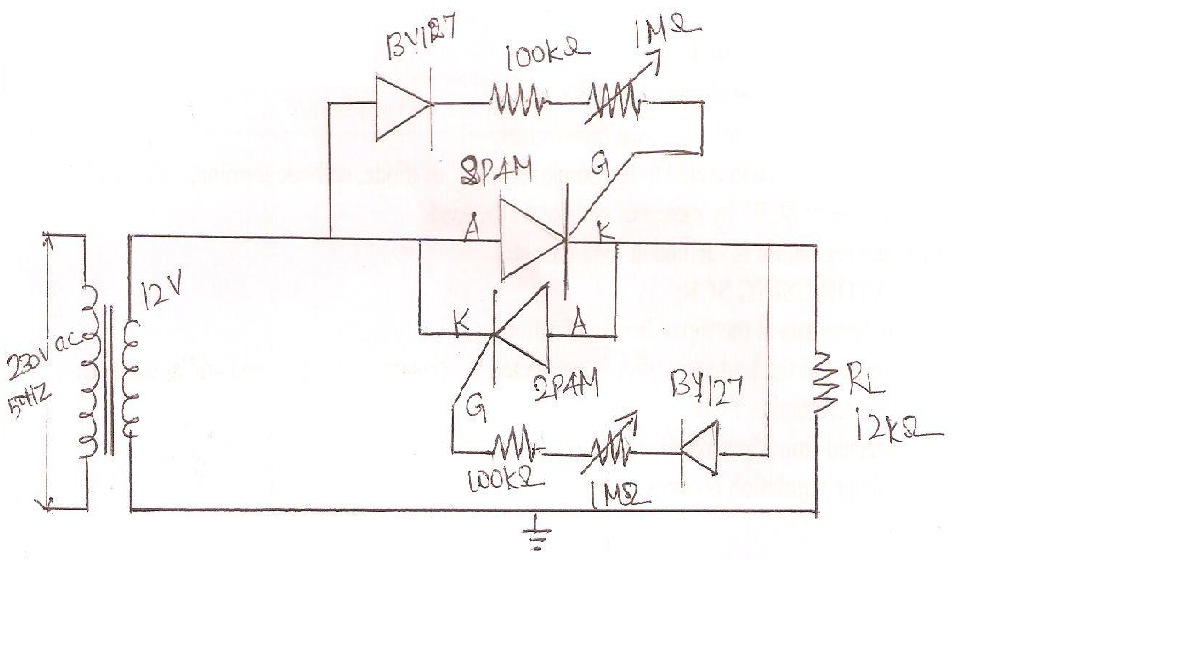 circuit diagram for voltage regulator using scr