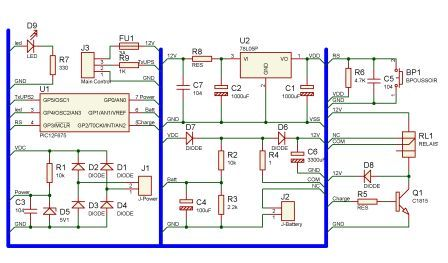 need UPS Circuit diagram