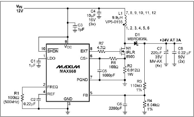 dc dc converter design 24v from 12vmaxim has many such ics take a look at application note pdfserv maxim ic com en an an910 pdf the ic is max668, 12v to 24v 3a boost converter