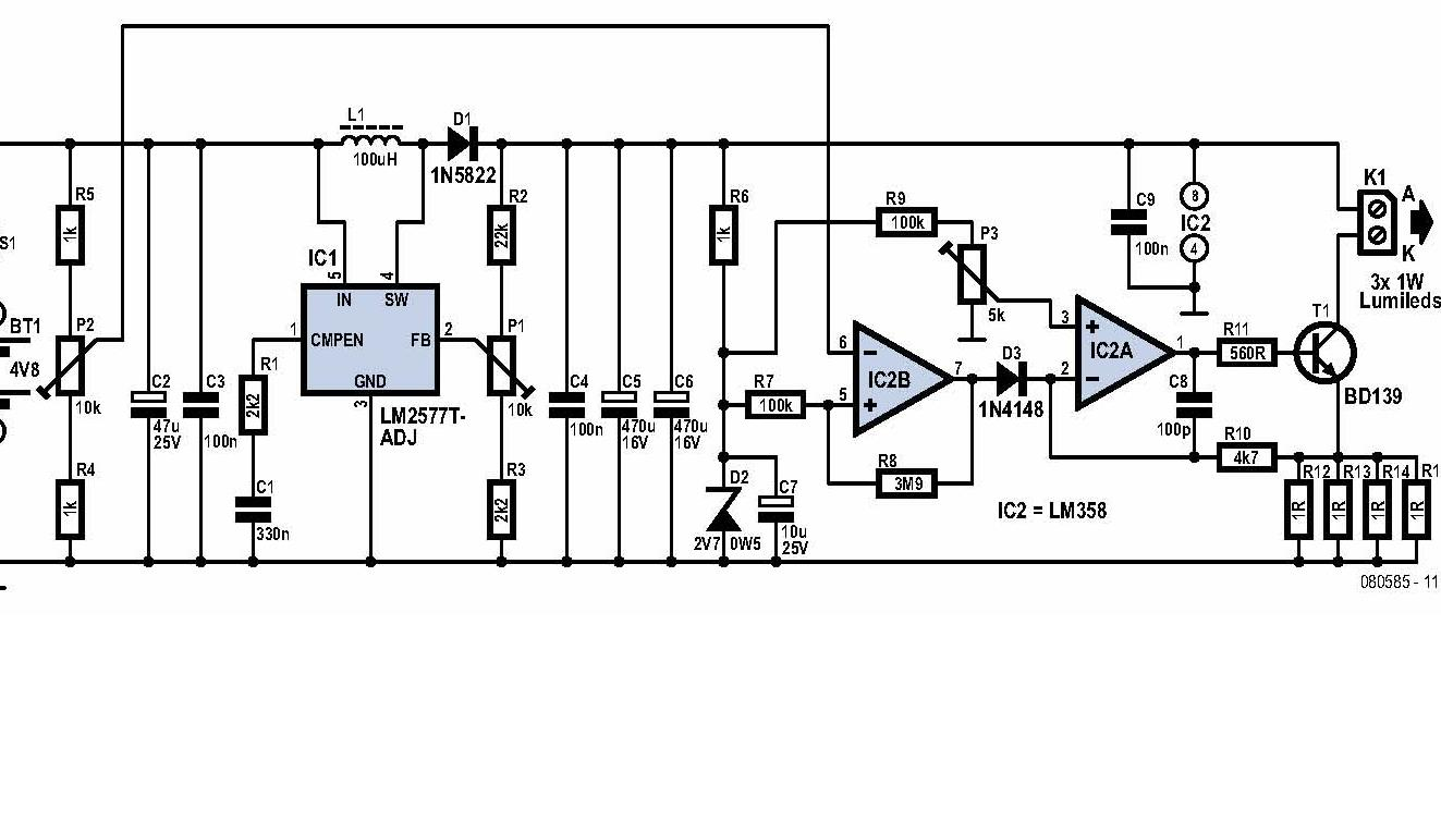 Switchmode Constant Current Circuit Diagram