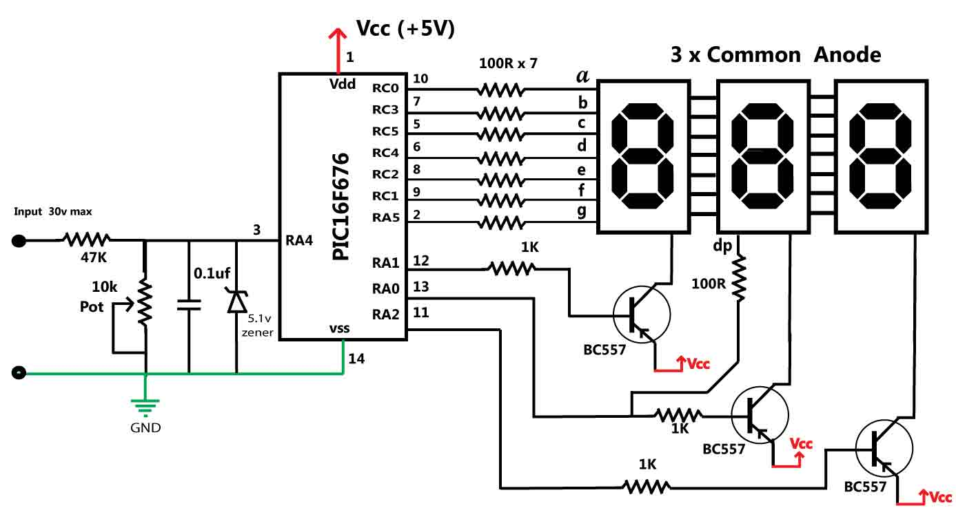 looking for a pic program for battery voltage indicator