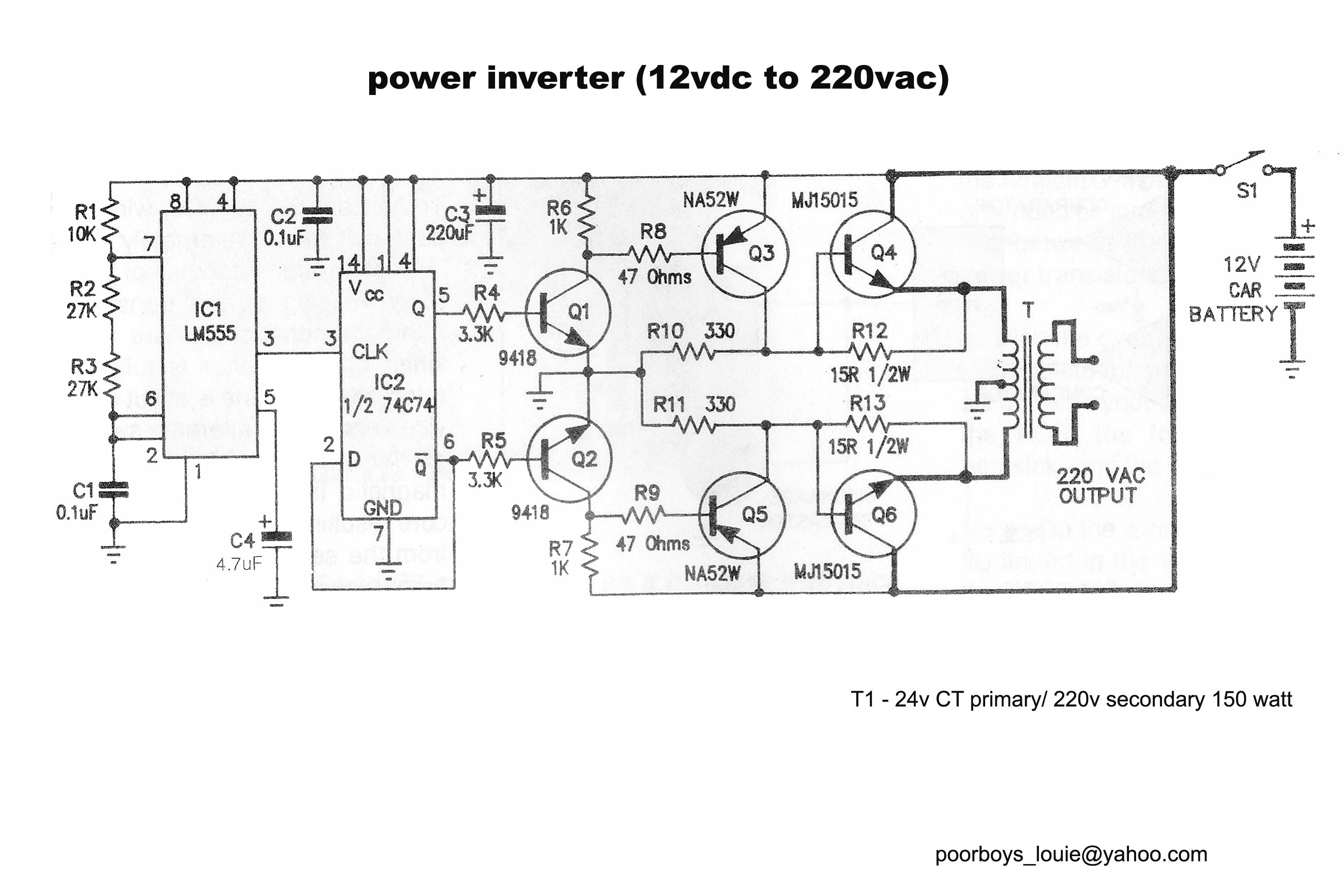 Circuit Diagram For An Inverter Circuit