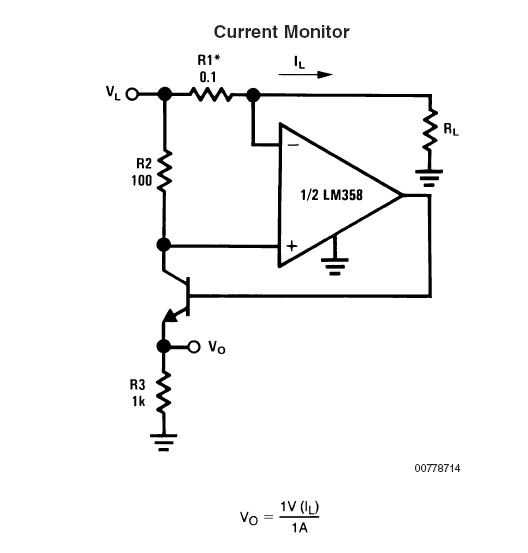 op amp current monitor help