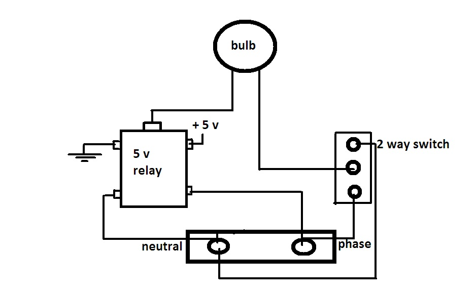 relay used with 2 way switch