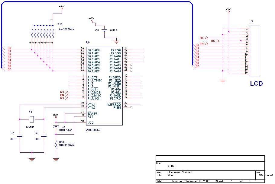 how to interface an lcd to 89c51 using 4 bit mode rh edaboard com Atmel 89C51 AT89C51 Microcontroller
