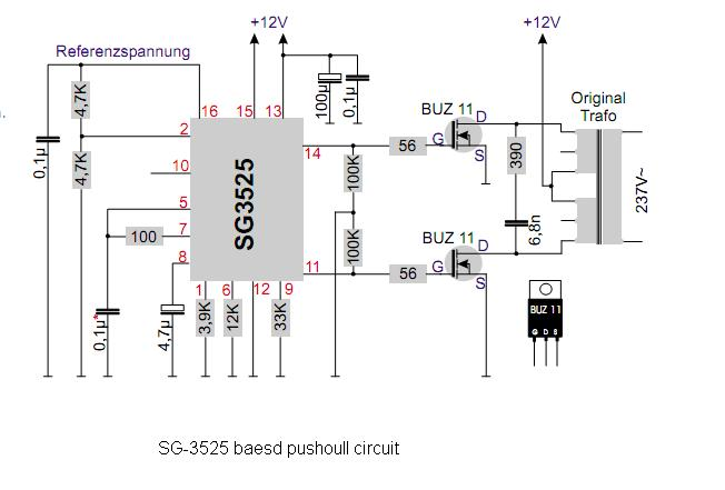 i need 12v dc to 220v ac inverter circuit