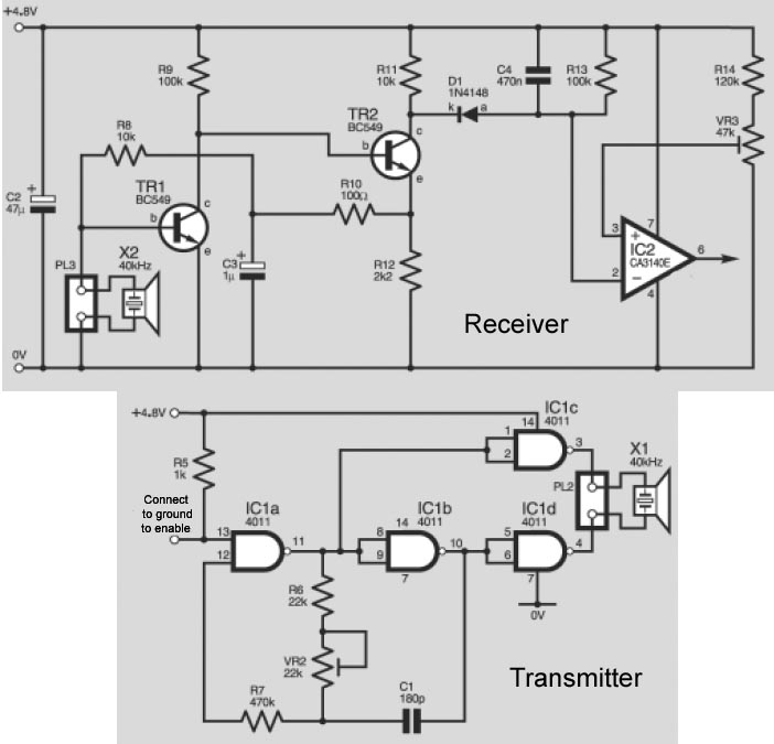 i need an explanation from ultrasonic transmitter circuit