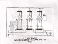 3 phase 4 wire connection for l&t whole current meter ct meter calculation meter wiring diagrams for ct rated meters
