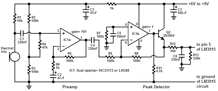 need sound pressure meter circuit interfaced with pic