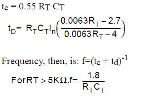 Calculate UC3842 Frequency