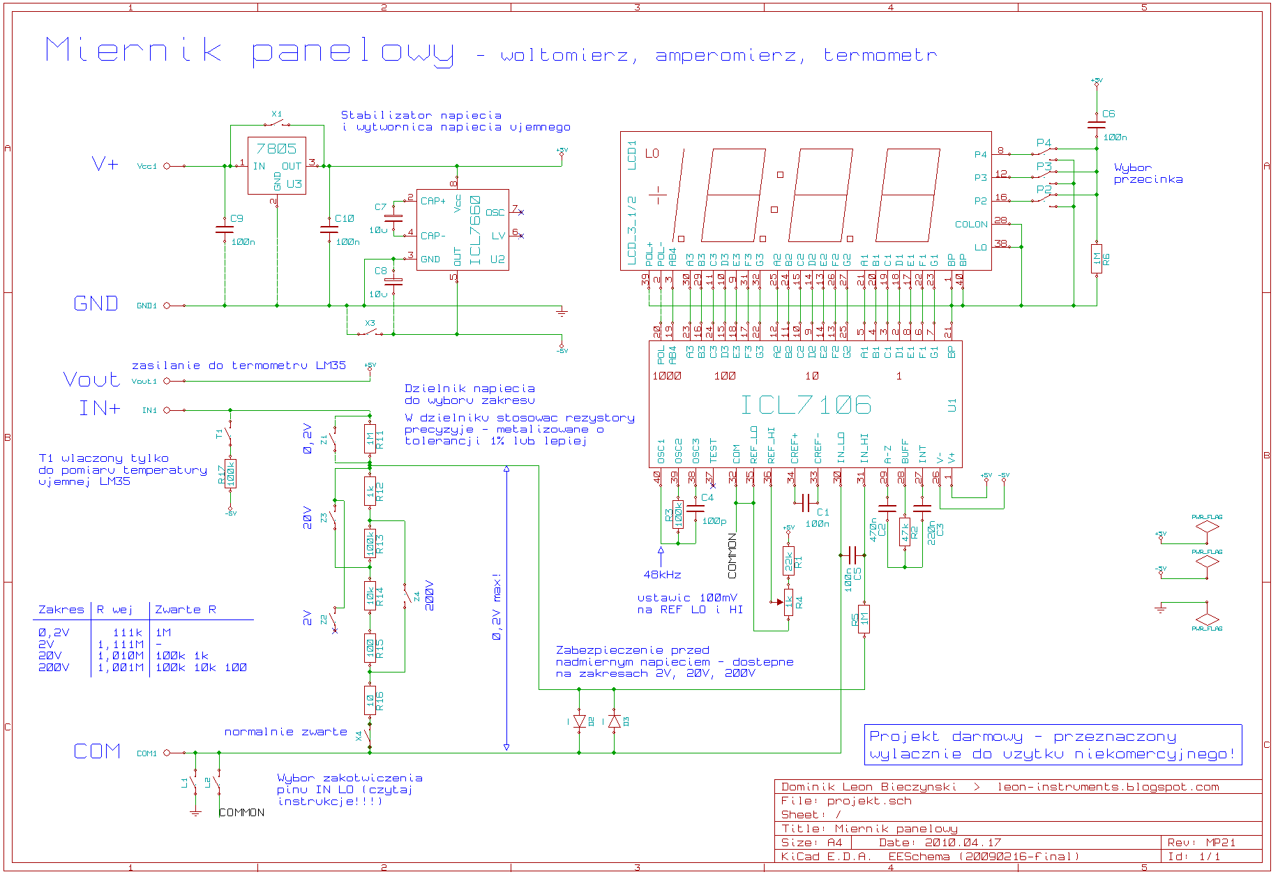 Data Sheet For A Digital Panel Meter Rs Stock Number 258 114 E Circuit Diagram Re